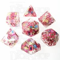 TDSO Sprinkles Multi With Pink 7 Dice Polyset