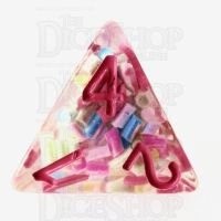 TDSO Sprinkles Multi With Pink D4 Dice