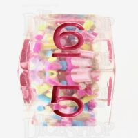 TDSO Sprinkles Multi With Pink D6 Dice