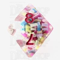 TDSO Sprinkles Multi With Pink D8 Dice