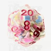 TDSO Sprinkles Multi With Pink D20 Dice