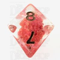 TDSO Sprinkles Beads Red D8 Dice