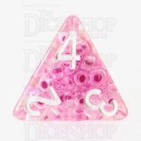 TDSO Sprinkles Beads Pink D4 Dice