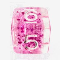 TDSO Sprinkles Beads Pink D6 Dice