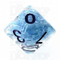TDSO Sprinkles Beads Blue D10 Dice