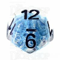 TDSO Sprinkles Beads Blue D12 Dice