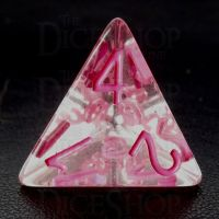 TDSO Confetti Clear & Pink D4 Dice