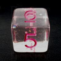 TDSO Confetti Clear & Pink D6 Dice