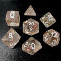TDSO Metallic Flakes Small Stars 7 Dice Polyset