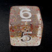 TDSO Metallic Flakes Small Stars D6 Dice