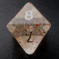 TDSO Metallic Flakes Small Stars D8 Dice