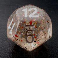 TDSO Metallic Flakes Small Stars D12 Dice