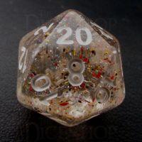 TDSO Metallic Flakes Small Stars D20 Dice