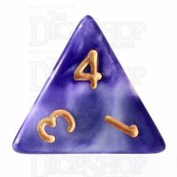 TDSO Marble Purple & White D4 Dice