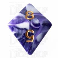 TDSO Marble Purple & White D8 Dice