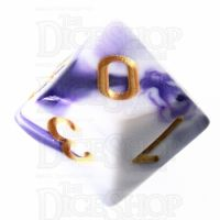 TDSO Marble Purple & White D10 Dice
