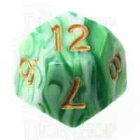 TDSO Marble Green & White D12 Dice