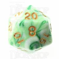 TDSO Marble Green & White D20 Dice