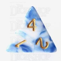 TDSO Marble Blue & White D4 Dice