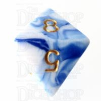 TDSO Marble Blue & White D8 Dice