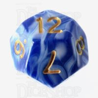 TDSO Marble Blue & White D12 Dice