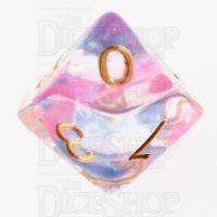 TDSO Pearl Swirl Daybreak D10 Dice