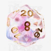 TDSO Pearl Swirl Daybreak D20 Dice