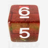 TDSO Layer Transparent Rainbow Glitter D6 Dice