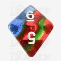 TDSO Layer Transparent Rainbow Glitter D8 Dice