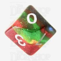 TDSO Layer Transparent Rainbow Glitter D10 Dice