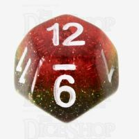 TDSO Layer Transparent Rainbow Glitter D12 Dice