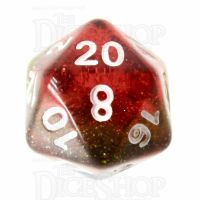 TDSO Layer Transparent Rainbow Glitter D20 Dice