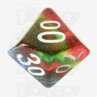 TDSO Layer Transparent Rainbow Glitter Percentile Dice