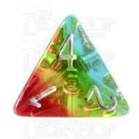 TDSO Layer Transparent Sunset D4 Dice