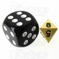 TDSO Metal Satin Gold MINI 10mm D8 Dice