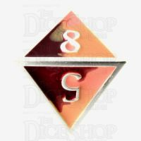TDSO Metal Fire Forged Multi Colour Silver Orange Red & Yellow D8 Dice