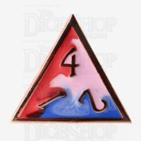 TDSO Metal Fire Forged Multi Copper Blue Red & White D4 Dice