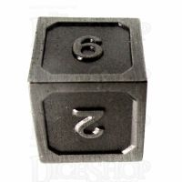 TDSO Metal Fire Forge Antique Nickel D6 Dice