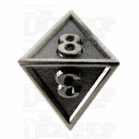 TDSO Metal Fire Forge Antique Nickel D8 Dice