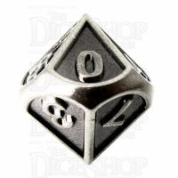 TDSO Metal Fire Forge Antique Nickel D10 Dice