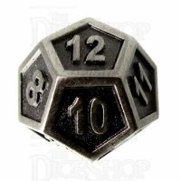 TDSO Metal Fire Forge Antique Nickel D12 Dice