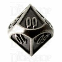 TDSO Metal Fire Forge Antique Nickel Percentile Dice