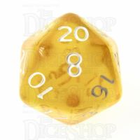 TDSO Bright Gem Topaz D20 Dice