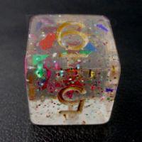 TDSO Confetti Rainbow Glitter D6 Dice
