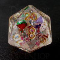 TDSO Confetti Rainbow Glitter D20 Dice