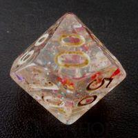 TDSO Confetti Rainbow Glitter Percentile Dice