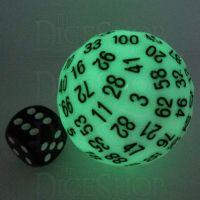 TDSO Glow in the Dark Green D100 Dice