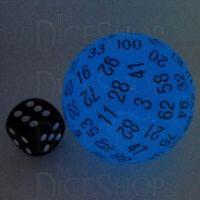TDSO Glow in the Dark Blue D100 Dice