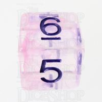 TDSO Pearl Swirl Pink & Purple with Purple D6 Dice