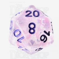 TDSO Pearl Swirl Pink & Purple with Purple D20 Dice